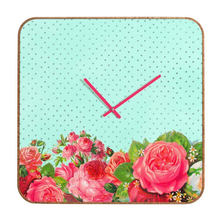 Allyson johnson favorite floral round clock maison for Accessoires pour la maison