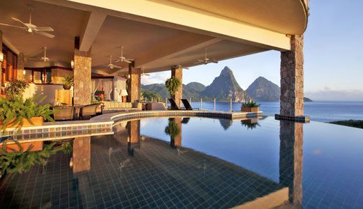 Top 50 Hotels in the World 2013, No.14  Jade Mountain St. Lucia