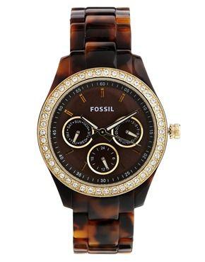 Fossil - Montre chronographe avec bracelet en écaille de tortue - 133€80