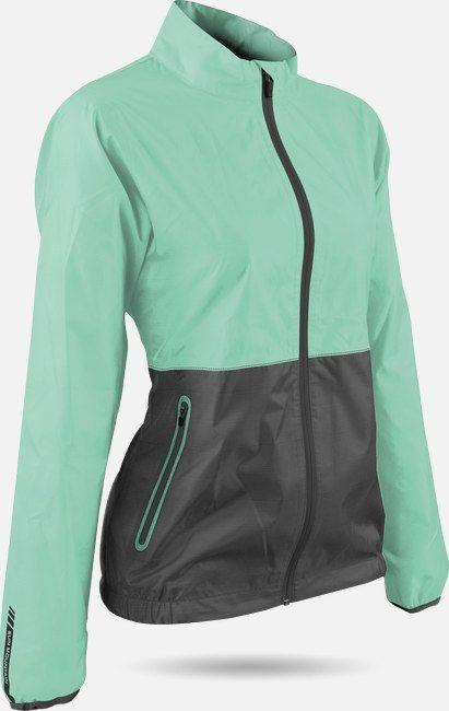 Sun Mountain Ladies Cirrus Ice Green/Steel Golf Jacket at #lorisgolfshoppe