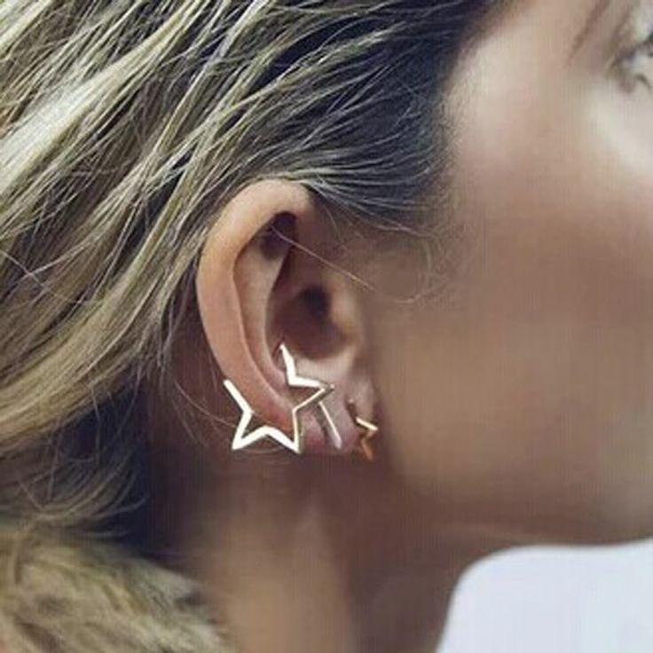 Новые ювелирные изделия Хип-Хоп панк звезда клип шпильки подарок для женщины девушка E2660