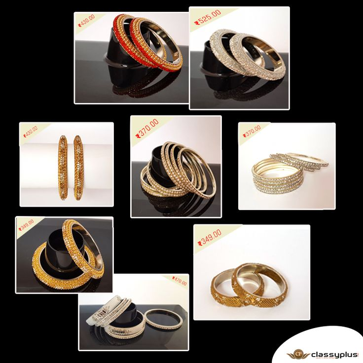 Check our new collection of crystal bangle set. #Fashion #Classyplus #WomanAccessories