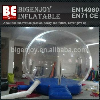 Big clear Inflatable Human Snowing Globe for sale