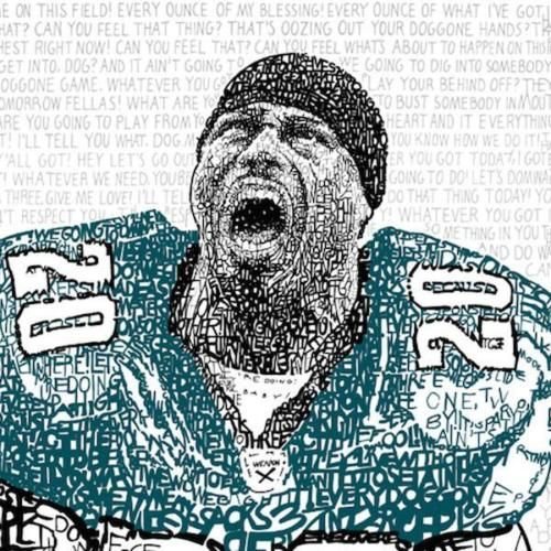 NEW-NFL-Philadelphia-Eagles-Brian-Dawkins-Pre-Game-Speeches-Word-Art-CHOP