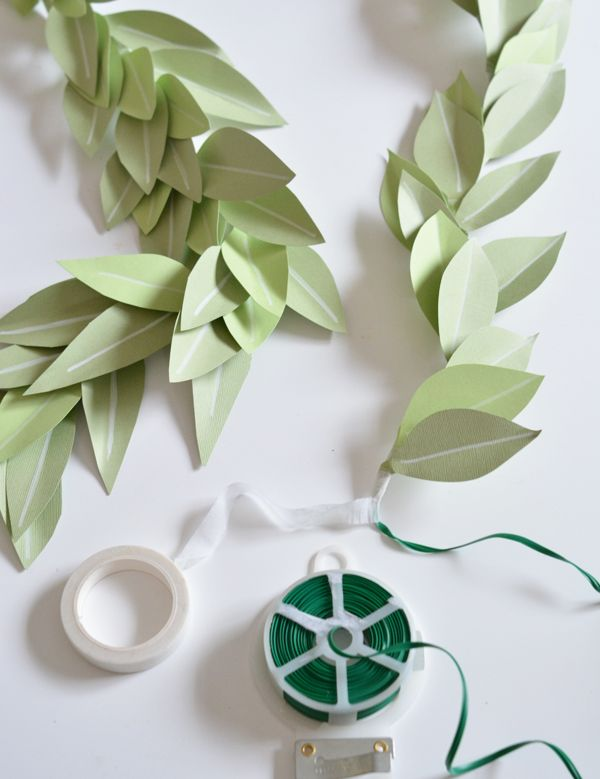 DIY Paper Leaf Garland | Centsational Girl