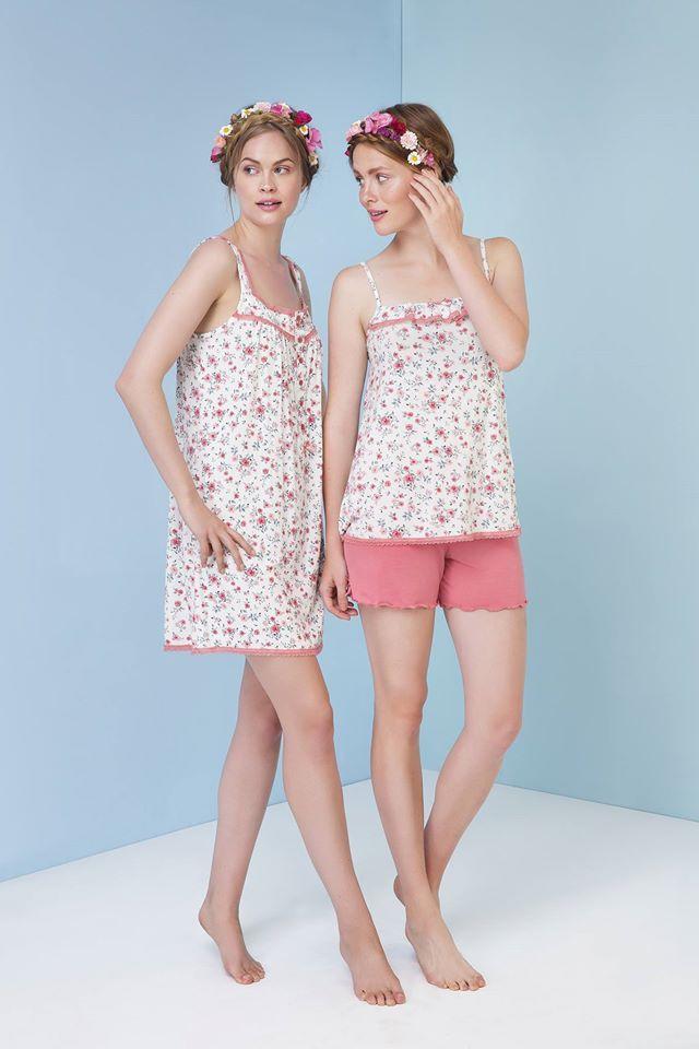 Lace, flowers, effortless style. Choose yours here: http://www.vampfashion.com/collections-mo-en/nightwear-mo-en.html #vampfashion #pyjamas #ss17
