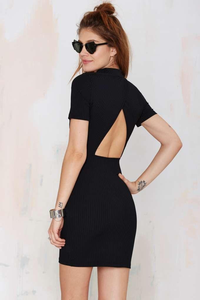 Nasty Gal Whatcha Gonna Do Ribbed Dress - Black - LBD | Dresses | Body-Con | Basic | Dresses