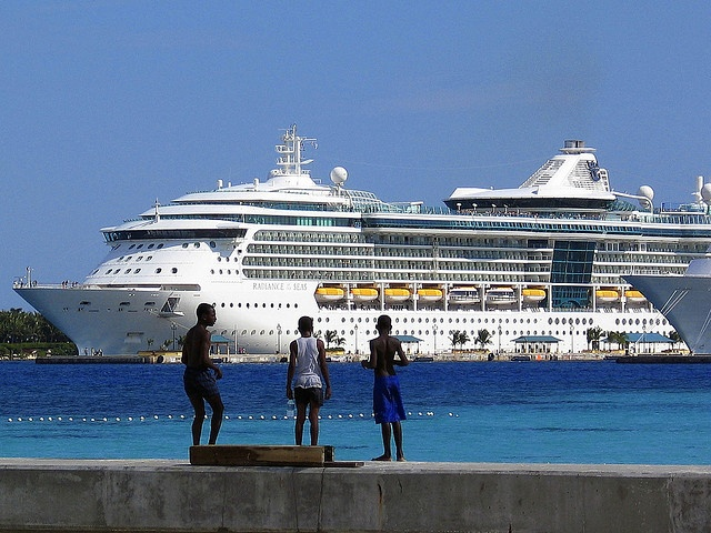 The ship, Millenium, for Celebrity Cruise Lines pulls into port in Nassau, Bahamas.     /Celebrity cruise line