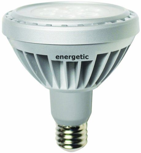 Energetic Lighting ELE10D-PLN35-VB LED 10-Watt Dimmable PAR 30, 35-Degree Beam Spread Long Neck Flood Lamp, Bright White by Energetic Lighting. $35.71. Energy Star approved 10-Watt LED PAR 30 dimmable lamp.  Energy saving of 80-Percent vs similar Incandescent and Halogen type lamps.  This PAR 30 is rated up to 40000 of useful life.  It's design for replacing traditional spot lights with a uniform beam spread of 35⁰.  Our PAR 30 lamp produces a nice bright white light,...
