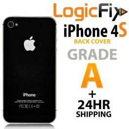 Grade A Quality Back Cover For iPhone 4S  Kit Includes: •1 Replacement iPhone 4S Back Cover • Link to Logicfix's YouTube iPhone 4S Back Cover Repair Video
