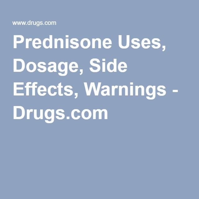 prednisone stop side effects
