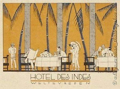 My mom used to talk about this hotel... John Wayne Hotel des Indes Batavia Dutch East Indies Photography
