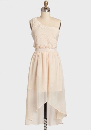 Light and airy.: Fashion, Dresses Afternoon Wedding, Affordable Bridesmaid Dresses, One Shoulder Dresses, Nude Dress, Afternoon Dresses, Dresses 36 99, Chiffon Dresses, Romantic Afternoon