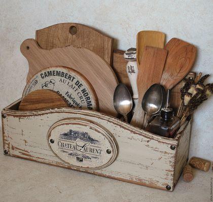 Кухня ручной работы. Ярмарка Мастеров - ручная работа. Купить Chateau подставка-органайзер. Handmade. Комбинированный, кухонные принадлежности, сосна