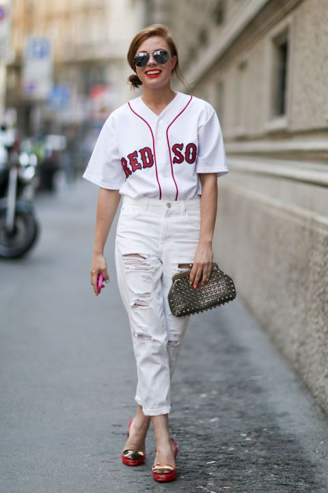 While basketball jerseys may be the favorite jersey of the fashion set, here's a case for the baseball jersey.