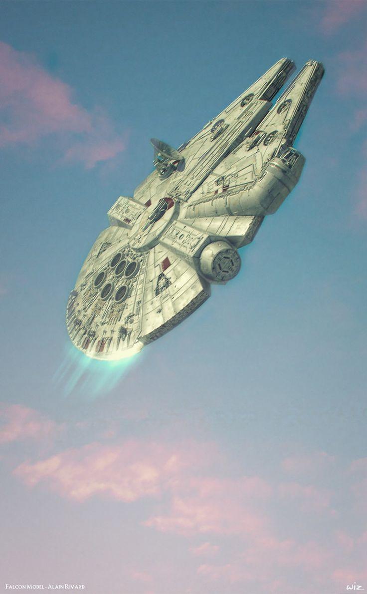 A nave estelar conhecida como Millennium Falcon, projetada por George Lucas para o Star Wars, foi baseada num formato de hambúrguer.