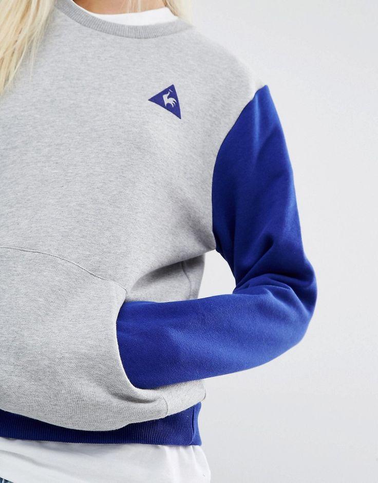 Image 3 of Le Coq Sportif Color Block Crew Sweatshirt