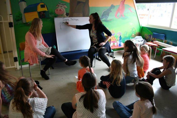 Lauren and Rachel talking about singing  #Singing #fun #schoolholidays #workshops #makemearockstar