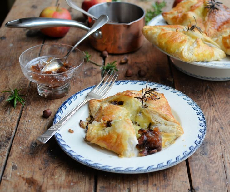 Le Rustique Camembert and Hazelnut Parcels with Quick Fruit and Honey Chutney..