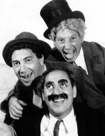 Groucho, Chico and Harpo: The Marx Brothers were a team of sibling comedians, who performed in vaudeville, stage plays, film and TV from 1915-1949. Born in NYC, they were the sons of Jewish German immigrants.