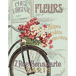 @Overstock - Add just the right touch to your home with this fun needlework projectCross stitch kit includes all the items you need to create this delightful decorationCharming cross stitch depicts a Parisian bicycle with flowers in its baskethttp://www.overstock.com/Crafts-Sewing/Parisian-Bicycle-Counted-Cross-Stitch-Kit/3343961/product.html?CID=214117 $15.73