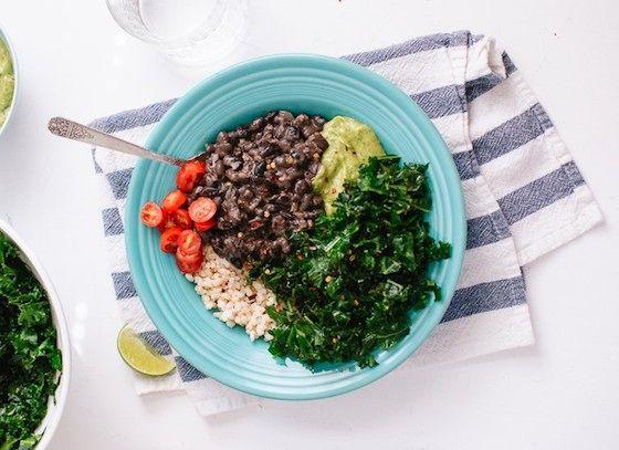 Kale, Black Bean, and Avocado Burrito Bowl