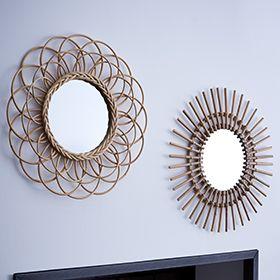 1000 ideas about miroir en rotin on pinterest rattan for Miroir zodio