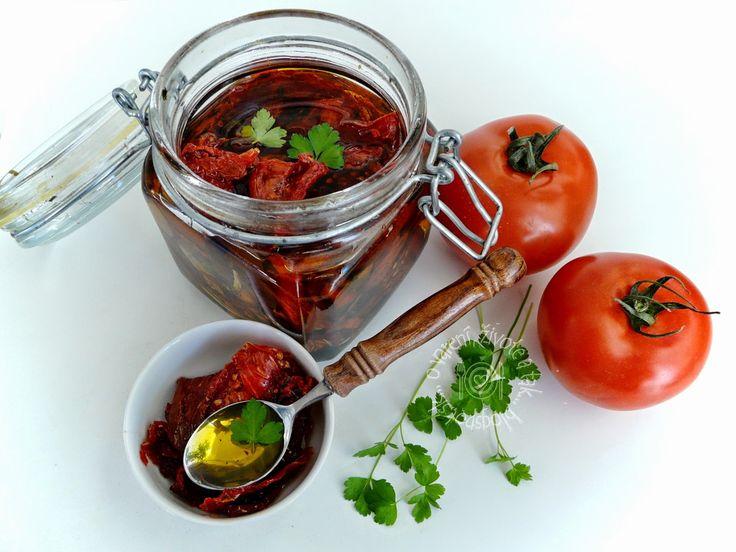 Sušené paradajky naložené v oleji
