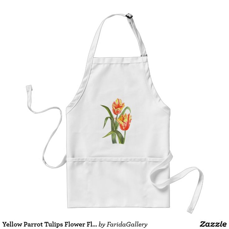 Yellow Parrot Tulips Flower Floral Art