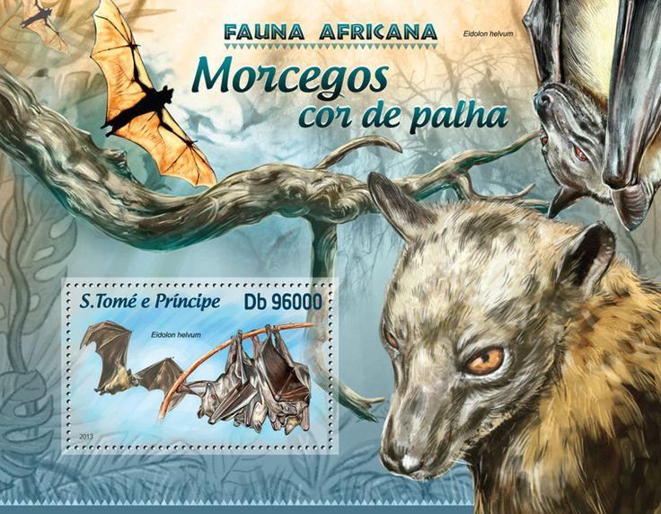 Yarasalar - Sao Tome ve Principe pulu çıkartması