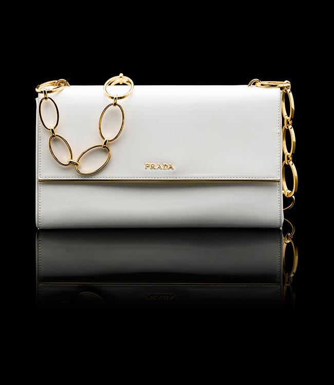 prada wallet woman - PRADA - CLUTCH BRUSHED CALF LEATHER CLUTCH CHAIN HANDLE GOLD ...