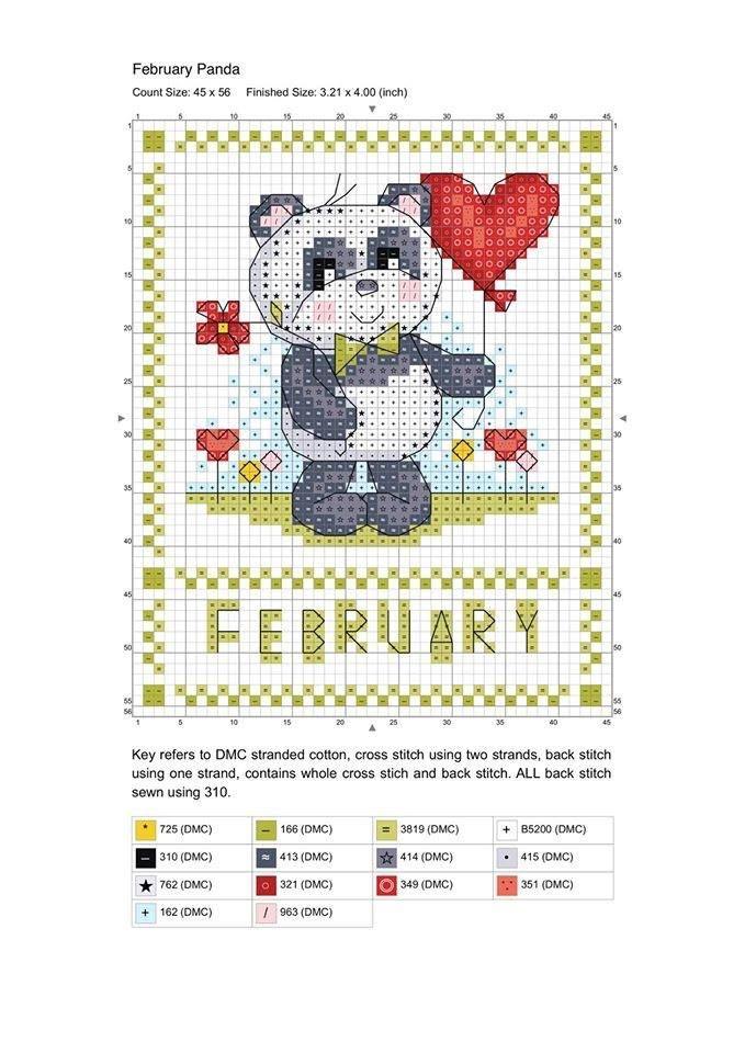 Calendário 2015 de gráficos muitos fofos! São bichinhos lindos e fáceis de…