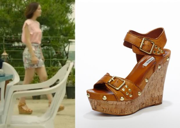 "Jin Se Yeon in ""Doctor Stranger"" Episode 15.  Guess Cork Wedge Sandals #Kdrama…"