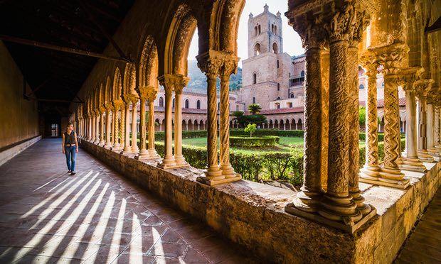 In the courtyard gardens of Duomo di Monreale.