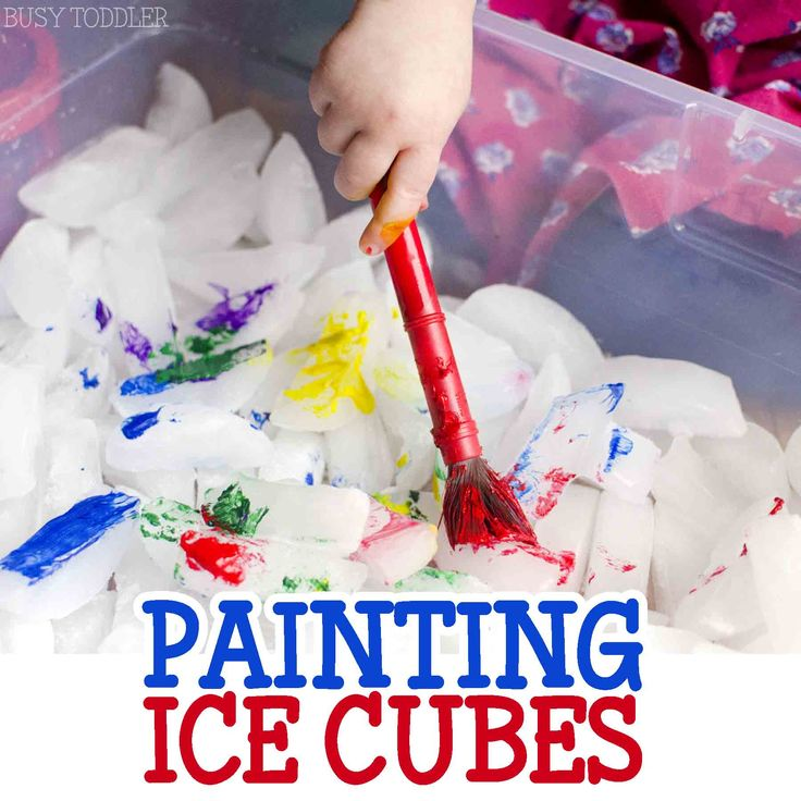PAINTING ICE CUBES: A fun sensory activity for toddlers and preschoolers; painting and sensory activity rolled into one; an easy indoor activity for toddlers;