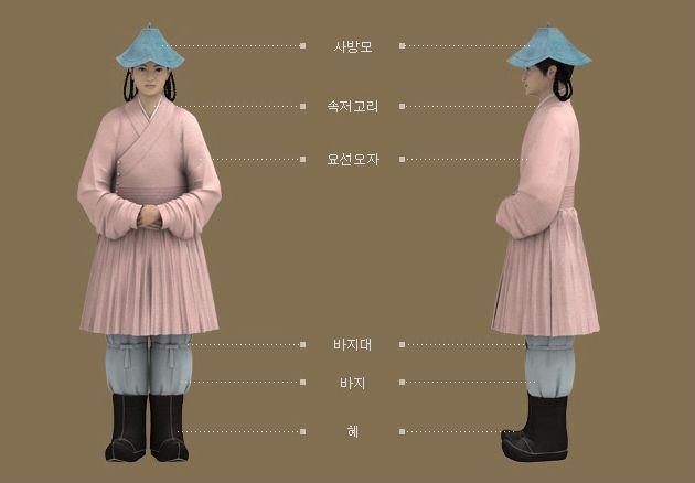 Goryeo Dynasty(AD918-1392) Korean traditional clothes #hanbok 불복장물 근거 腰線오자를 입은 소년. - 문화콘텐츠닷컴
