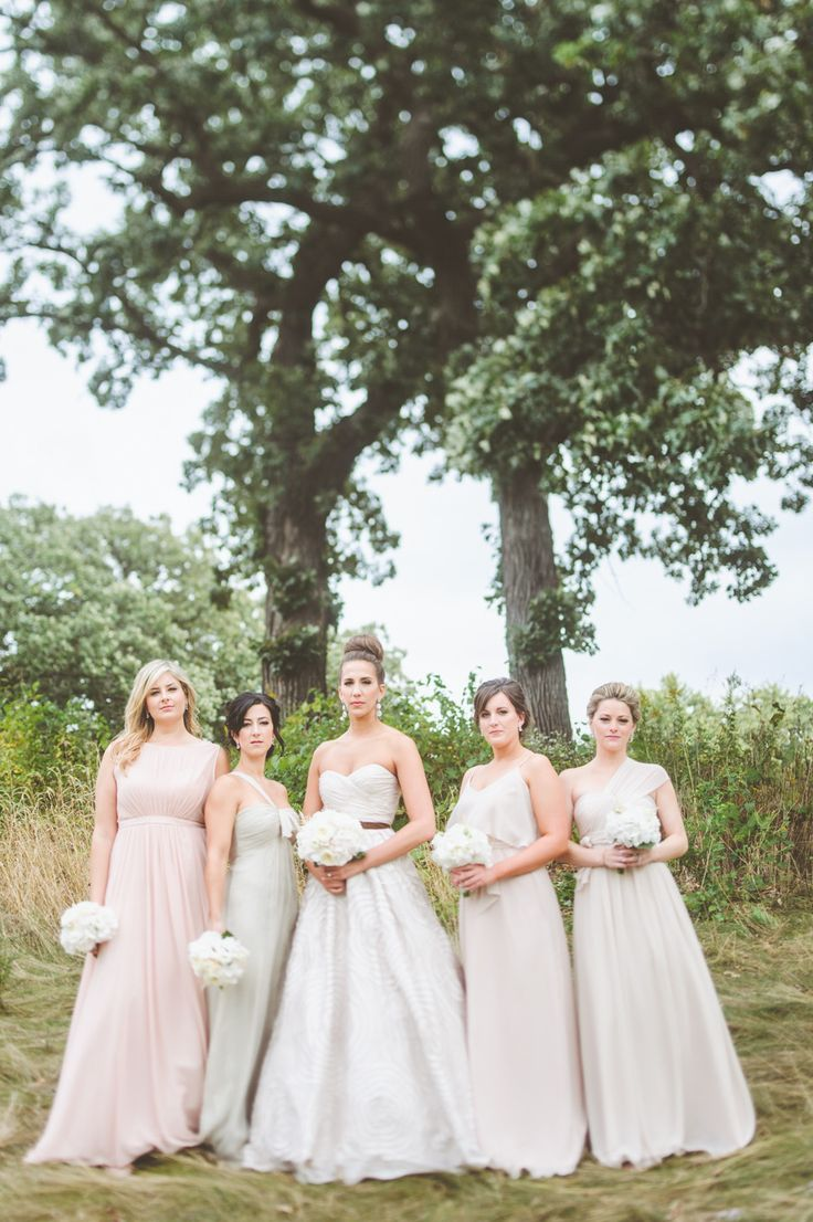 Best 25 romantic bridesmaids gowns ideas on pinterest pastel mismatched romantic bridesmaid gowns photography paper antler paperantler ombrellifo Images
