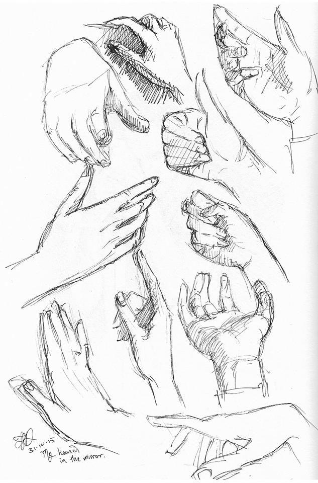 Hand studies, #inktober 29