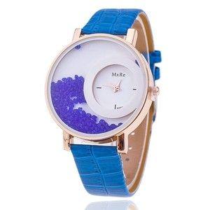 Nova moda relógio couro Azul