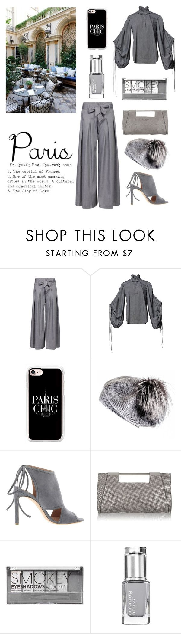 """""""Paris Chic"""" by im-karla-with-a-k ❤ liked on Polyvore featuring RALPH, Romance Was Born, Casetify, Black, BOSS Hugo Boss, Halston Heritage and Boohoo"""