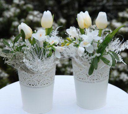 Dekorace vánoční - tulipány v krajce