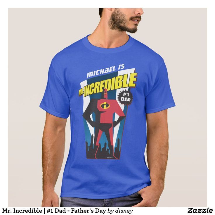 Mr. Incredible | #1 Dad - Father's Day. Regalos Padres, fathers gifts. T-Shirt. Producto disponible en tienda Zazzle. Vestuario, moda. Product available in Zazzle store. Fashion wardrobe. Regalos, Gifts. Trendy tshirt. #camiseta #tshir #DiaDelPadre #FathersDay