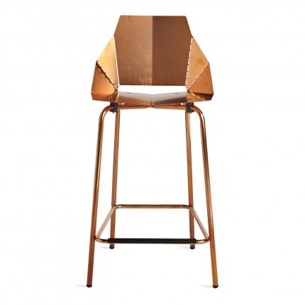 Rhode Island Red + Seat Pad: Copper Real Good Counter Stool - Modern Barstools & Seating - Blu Dot