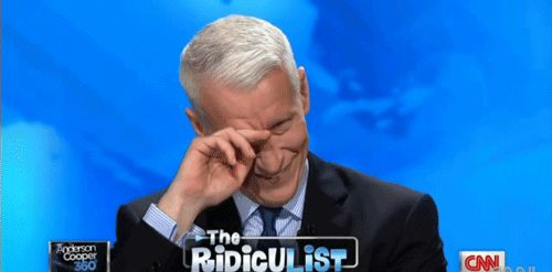 Every now and then Coops gets the giggles, which sound like the chorus of a million angels. | Anderson Cooper Is The Silver Fox Of Your Dreams
