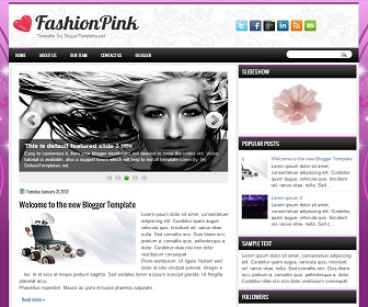 FashionPink Blogger Template