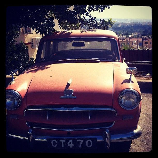 An old vanguard with old Cypriot number plate #Padgram