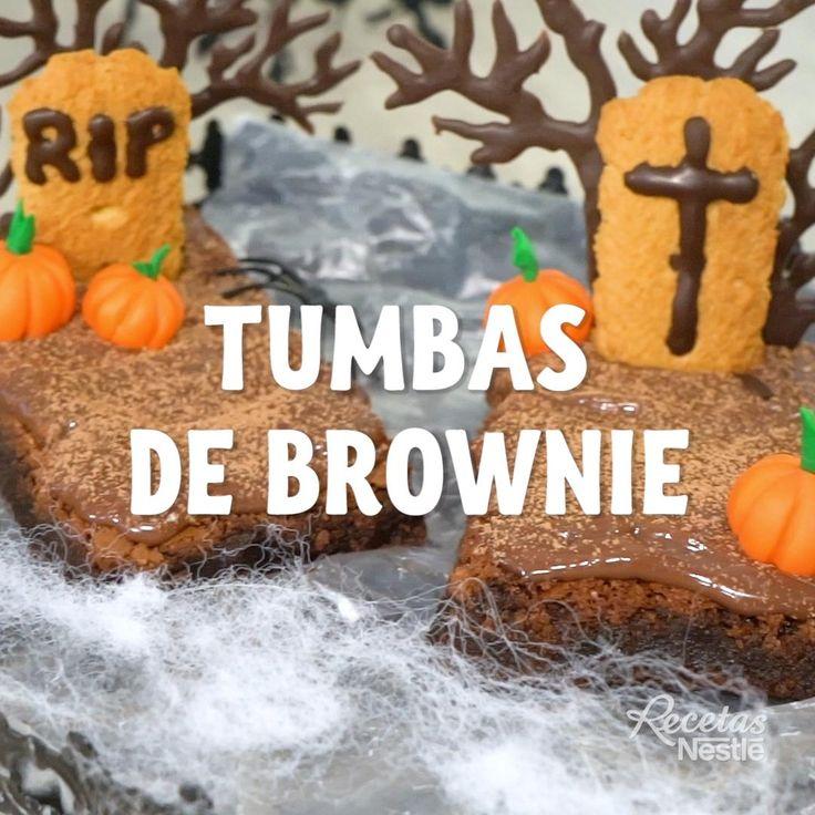 ¡La #RECETA más tenebrosa de #HALLOWEEN llega a la cocina con estas deliciosas #TUMBAS #BROWNIE ! 🧟♀🧟 ¡Son súper #FÁCILES y #DELICIOSAS ! Comida De Halloween Ideas, Halloween Snacks, Happy Halloween, Fat Foods, 6th Birthday Parties, Dessert Recipes, Desserts, Yummy Treats, Brunch