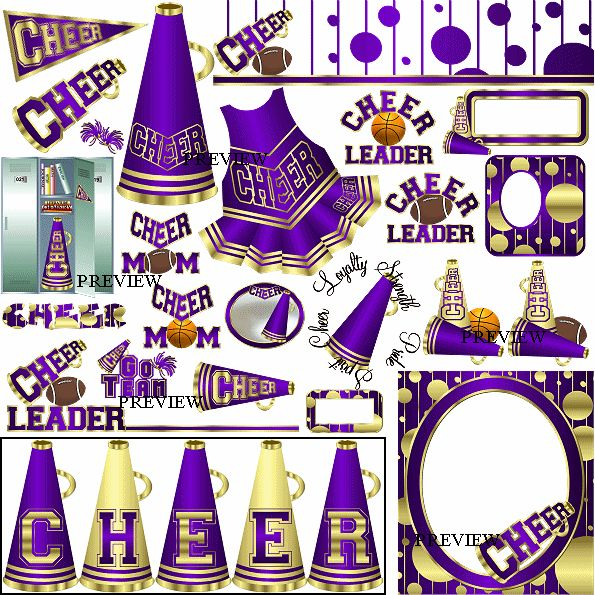 Megaphone Pictures Clip Art | Cheer Clipart from J.Rett Graphics