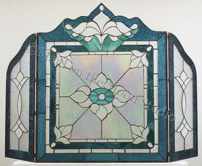 70 best Stained Glass Fireplace Screens images on Pinterest ...