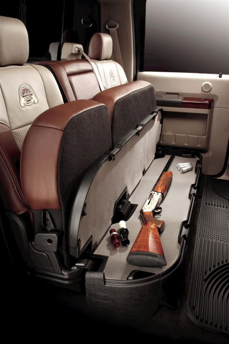 Hidden Gun Storage. id try to get one in the front seat as well for a smaller gun